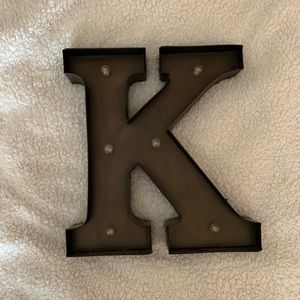 Light Letter 'K' Marquee